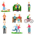 aged people characters in different situations set vector image