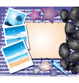 Beachy Background with Polaroids vector image