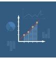 Chart Line Style Design vector image
