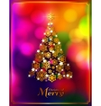 Christmas tree made from golden snowflakes on vector image