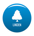 linden tree icon blue vector image