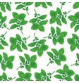 seamless pattern with green basil vector image