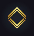 square line gold geometry logo vector image