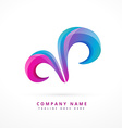 abstract colorful shapes design vector image