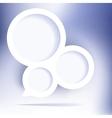 Abstract web design bubble  EPS8 vector image vector image