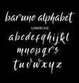 baruno alphabet typography vector image