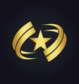 star america circle abstract gold logo vector image