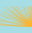 yellow sun on a blue background vector image