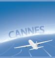 cannes skyline flight destination vector image