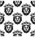 Seamless pattern of a Royal lion vector image vector image