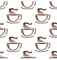 Steaming coffee cups seamless pattern vector image vector image