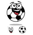 Soccer ball smiling cartoon personage vector image