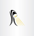 table lamp stylized icon design vector image