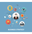 Business Strategy on flat style design vector image
