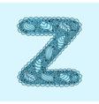 Cute letter Z Floral monogram Z vector image