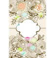 Floral card with label vector image