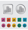 Icon coins vector image