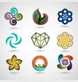 logo design icon set vector image