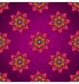 Purple flower pattern vector image