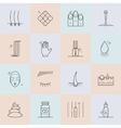Set of cosmetology line icons vector image