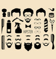 set of dress up with men hipster haircuts vector image