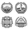 vintage monochrome chess emblems set vector image