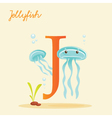 J for jellyfish vector image