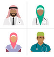 muslim health care professionals vector image vector image