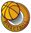 basketball club emblem vector image vector image