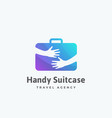 handy suitcase travel agency abstract sign vector image vector image