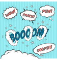 Comic speech bubbles design elements vector image