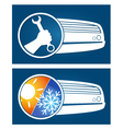 Air conditioning silhouette vector image