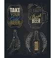 chalk beer vector image