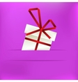 Christmas background with gift box EPS8 vector image