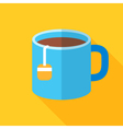 Colorful cup of tea icon in modern flat style with vector image