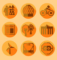 Flat Berlin icons with shadow vector image