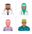 muslim health care professionals vector image