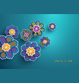 Paper craft islamic geometric flowers decoration vector image