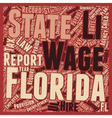 Payroll Florida Unique Aspects of Florida Payroll vector image