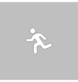 Running computer symbol vector image
