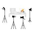 set of professional photo studio equipment vector image