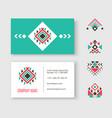 tribal logo business card vector image