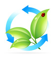 Logo Nature Recycle vector image