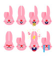 emojisemoji rabbit bunny emotion cartoon vector image