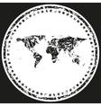 World Map Retro Stamp vector image