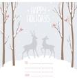 postcard winter deer vector image vector image