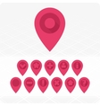 GPS Icons red vector image