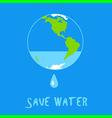 world water vector image
