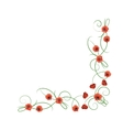 Corner composition from red poppies flowers vector image vector image