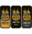 Beer labels with the brewery vector image